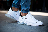 Кроссовки Nike Air Max 270 Белые White  / Найк аир макс 270. Унисекс модель