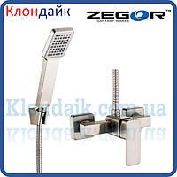 Смеситель для душевой кабины Zegor LEB5-A-KH WKB123 (нержавейка)