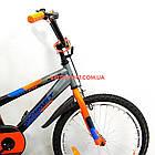 Детский велосипед Azimut Stitch 18 дюймов серый, фото 2