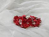 Обруч/венок из цветов красный для взрослых и детей, фото 3