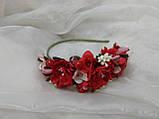 Обруч/венок из цветов красный для взрослых и детей, фото 2