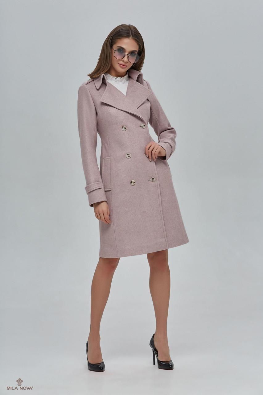 Двубортное демисезонное пальто