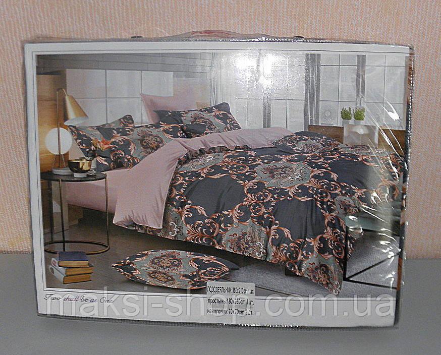 Комплект постельного белья полуторный мягкий Classic сатин (F-573)