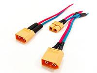 Комплект проводов сразъемами для пайки на аккумуляторные батареи прикормочных корабликов CarpCruiser boat, фото 1