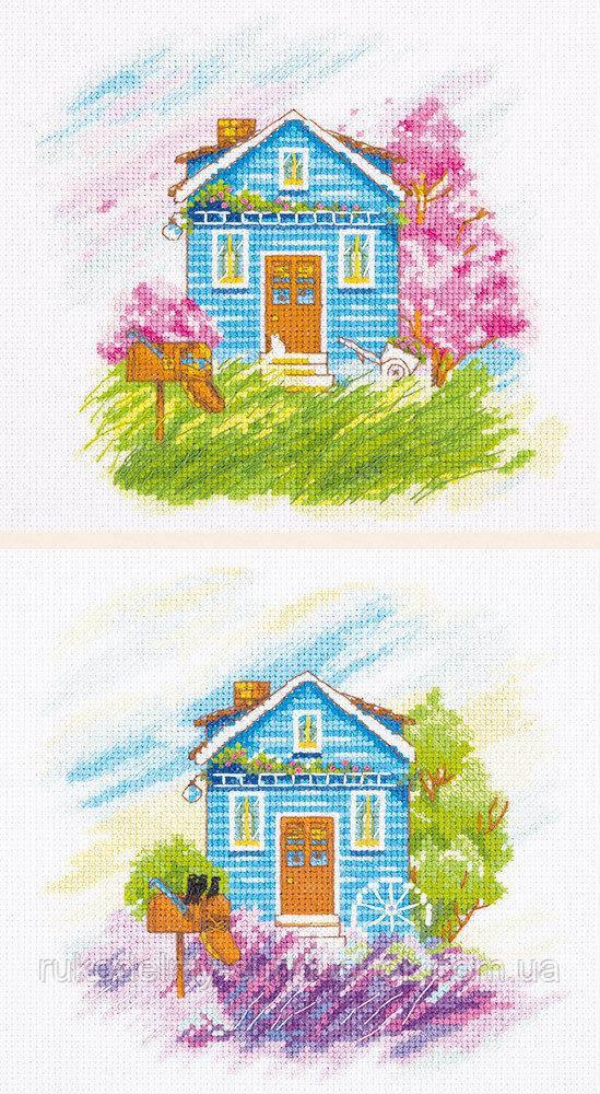 Набір для вишивання хрестом Пори року: Весна, Літо ДЕ-7003