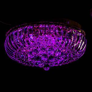 Хрустальная люстра с LED подсветкой на пульте управления на 6 лампочек (золото) P5-E1691/6/FG