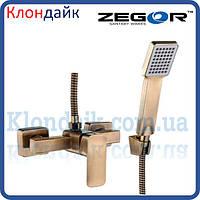 Смеситель для душевой кабины Zegor LEB5-A-KT WKB123 (бронза)