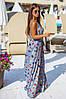 """Длинное летнее платье-сарафан на бретельках """"Моника"""" с принтом (2 цвета), фото 4"""