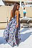 """Длинное летнее платье-сарафан на бретельках """"Моника"""" с принтом (2 цвета), фото 3"""