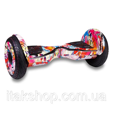 Гироборд Smart Balance Wheel U8 TaoTao APP 10,5 дюймов Fish (рыбки) с самобалансом и колонкой, фото 2