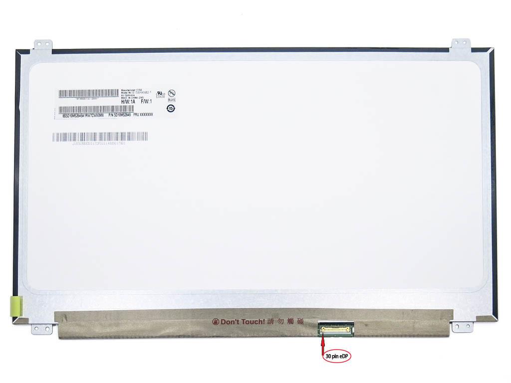 Матрица 15.6 Slim eDP (1920*1080, IPS, 30pin справа, ушки сверху-снизу) AUO B156HAN02.1 H,W 1A, Матова