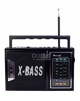 Радио RX 166 LED, Радио с led фонариком, Радиоприемник от сети и батареек, Радиоколонка переносная с фонарем