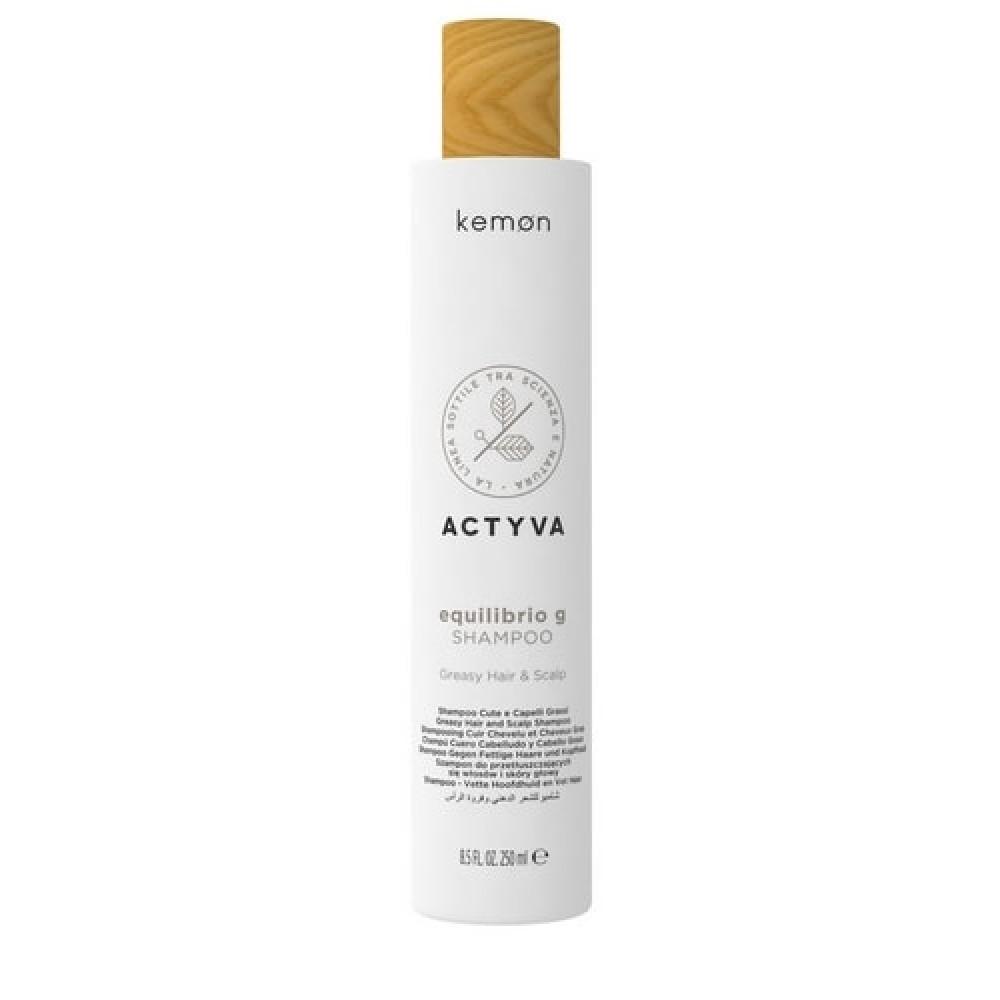 Шампунь для жирной кожи головы и волос Kemon Actyva Equilibrio G Shampoo 250 мл