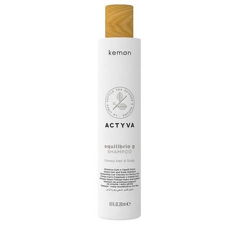 Шампунь для жирной кожи головы и волос Kemon Actyva Equilibrio G Shampoo 250 мл, фото 2