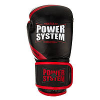 Перчатки для бокса PowerSystem PS 5005 Challenger 14oz Black/Red