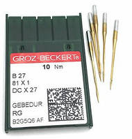 Иглы для промышленных оверлоков B27/81x1/DCx27/DCx1 110 RG Gebedur  Groz-Beckert
