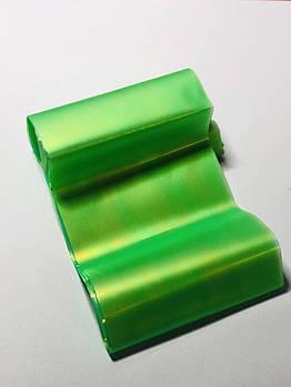 Фольга « битое стекло» зелёная , 1 м
