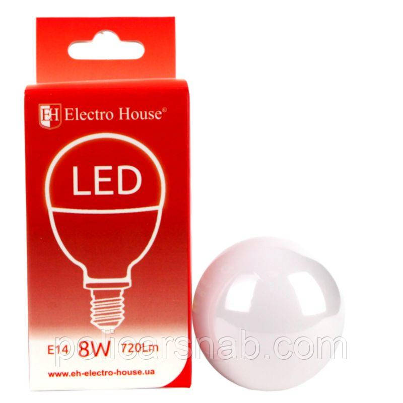 """ElectroHouse LED лампа """"шар"""" E14 P45 8W"""