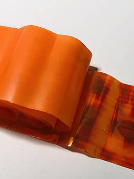 Фольга «битое стекло» , цвет оранжевый , 1 м