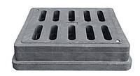 Дождеприемники полимерпесчаный, средний черный 400х450 с замком В125