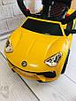 *Електромобіль (каталка - толокар) з батьківською ручкою Lamborghini (світло фар,музика) арт. 3591-6, фото 3