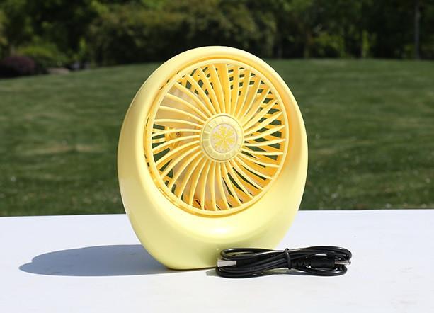 Портативный USB мини-вентилятор с аккумулятором Mini Fan SQ1978 Yellow