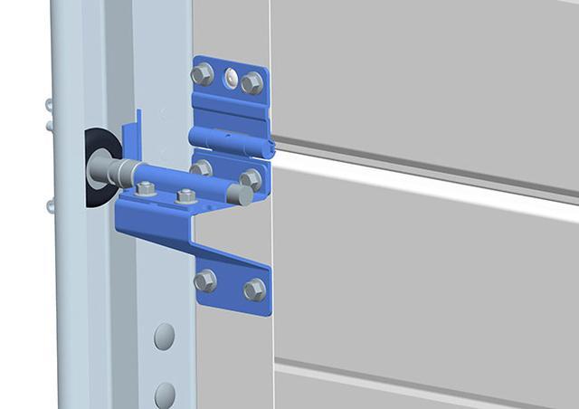 Роликовые кронштейны в воротах серии Prestige с системой защиты от взлома (класс RC2)