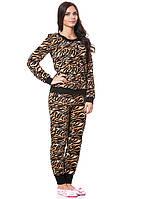 Женский флисовый домашний костюм Тигра (размеры S-2XL)