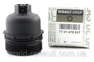 Renault (Original) 7701478537 - Корпус (кришка) масляного фільтра на Рено Трафік III 1.6 dci R9M