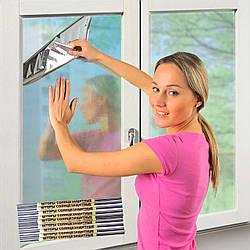 Плівка дзеркальна сонцезахисна для вікон 20 мкм 60х200 см в жовтій упаковці