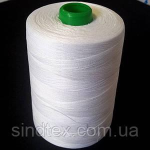Белые швейные 30/2  мерсеризованные хлопковые нитки 5000 ярдов