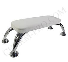 Маникюрная подставка для рук (Подлокотник) Белого цвета на ножках
