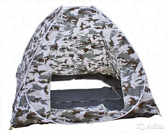 Палатка автомат 2 Х 2 лето - зима, зимняя рыбалка и охоты, рыболовная (отстегивается дно -клапан под лунки)