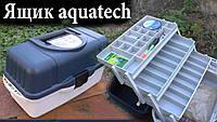 Контейнер, органайзер, ящик рыболовный 3 полки Aquatech 2703 с ручкой для транспортировки