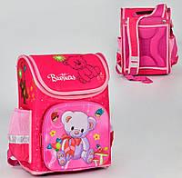 Ортопедический каркасный рюкзак Медвежонок на 1 отделение и 3 кармана