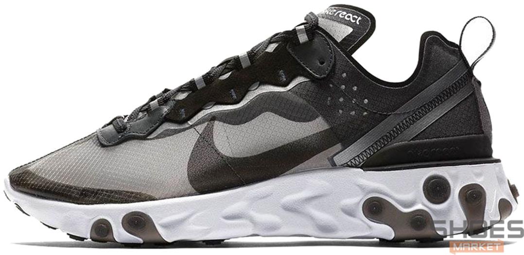 Мужские кроссовки Nike React Element 87 Anthracite Black AQ1090-001, Найк Реакт Елемент