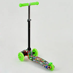 """Детский самокат MAXI  """"Best Scooter"""".Самокат с подсветкой. Кикборд, фото 2"""