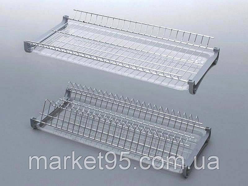 Сушарка для посуду у шафу 400 мм. хром