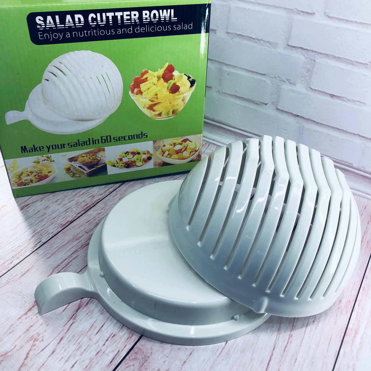 Салатница - овощерезка 2 в 1 Salad Cutter Bowl чаша для нарезки овощей и салатов миска
