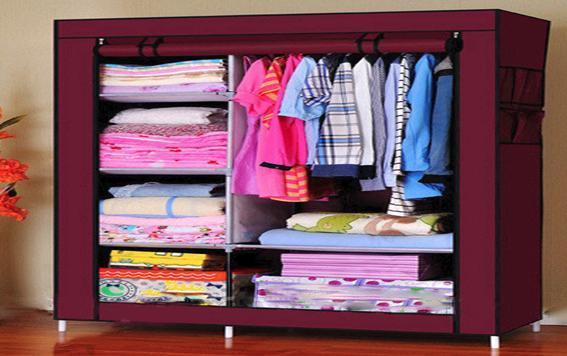 Портативный тканевый шкаф, органайзер,Storage Wardrobe, 6секций