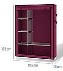 Портативный тканевый шкаф, органайзер,Storage Wardrobe, 6секций, фото 2