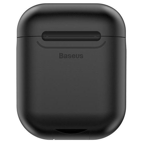 Чехол Baseus Wireless Charger silicone AirPods black Apple baseus