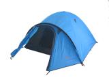 Туристическая палатка 3-х местная TRAVEL 3 голубая
