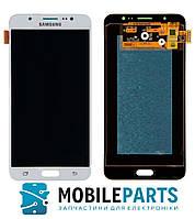 Дисплей для Samsung J710F | J710H Galaxy J7 2016 с сенсорным стеклом (Белый) TFT подсветка оригинал