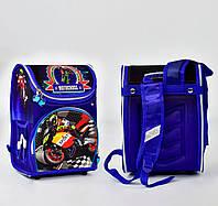 Ортопедический каркасный рюкзак Мотоклуб на 1 отделение и 3 кармана