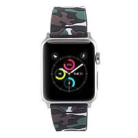 Ремешок для часов Apple Watch 38 мм 40 мм силиконовый с пряжкой, Camouflage with brown, фото 3