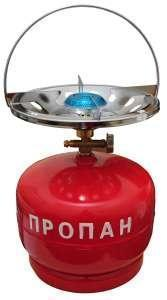Газовая печка портативная с баллоном на 5 литров