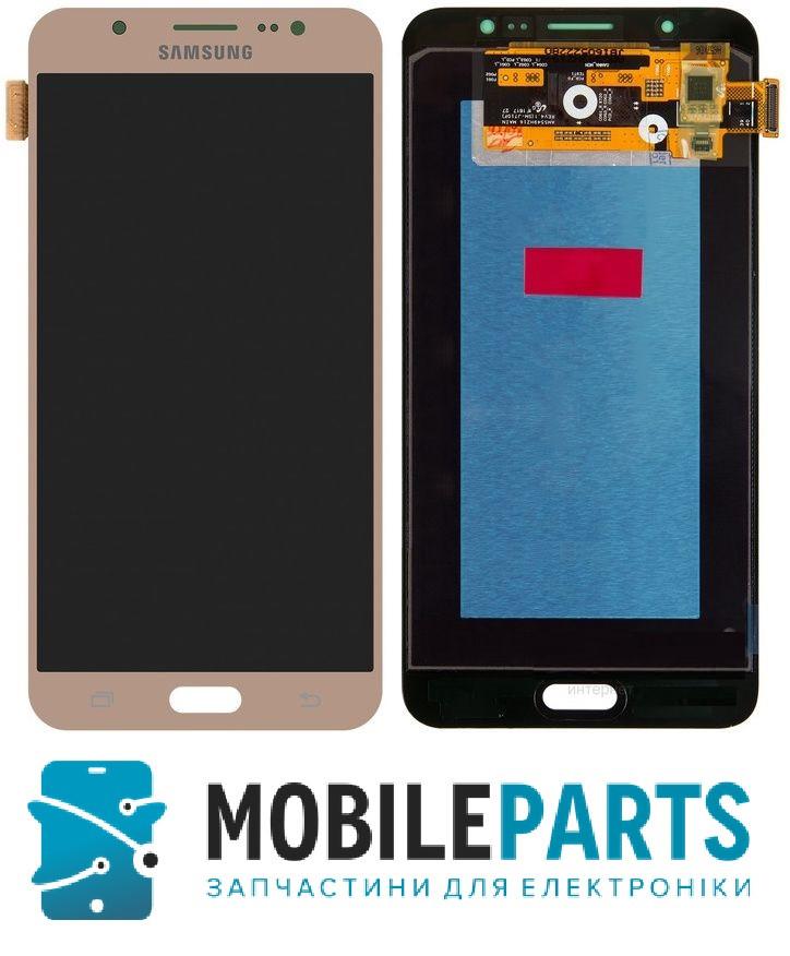 Дисплей для Samsung J710F   J710H Galaxy J7 2016 с сенсорным стеклом Яркость не регулируется (Золотой) TFT
