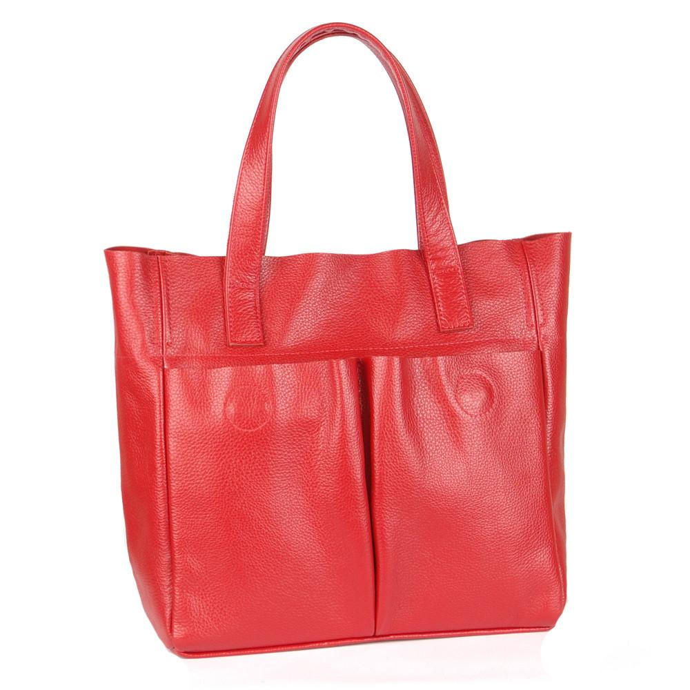 Женская сумка кожаная 02 красный флотар 01020107