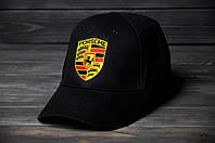 Кепка Бейсболка Porsche летняя шестиклинка стильная черная